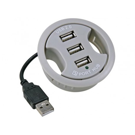 USB GROMMET 3-PORT HUB