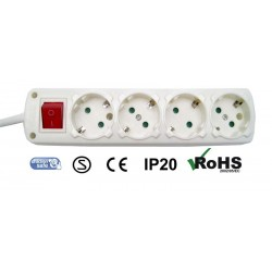 NET POWER BLOCK 4 PLUGS WITH SWITCH