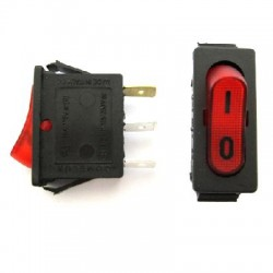 ON/OFF SWITCH 2 POSITIONS RED WITH Ι/Ο INDICATION 220V