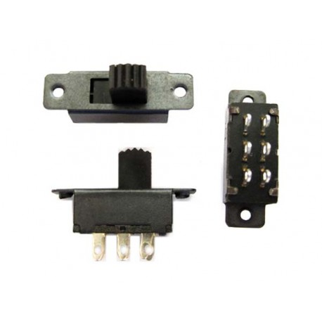 SLIDING SWITCH FOR PCB WITH 6 CONTACTS