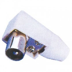 TV PLUG 90° MALE, WHITE, 9.5mm/2.3mm