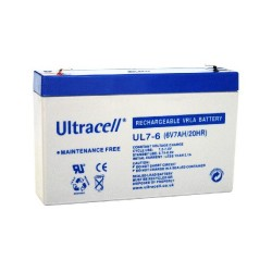 RECHARGEABLE SEALED LEAD ACID 6V / 7AH ULTRACELL