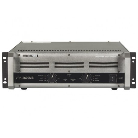"POWER AMPLIFIER 'QUBIC 2600' - 2 x 600W RMS (19""), BRIDGEABLE"