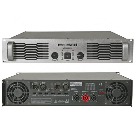 "POWERFUL AMPLIFIER - 2 x 600W RMS (19""), BRIDGEABLE"