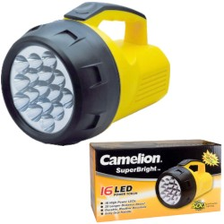 LED POWER TORCH - 16 LEDs - WITH 4 x C-CELL BATTERIES