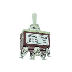 MAXI TOGGLE SWITCH DPDT (ON)-OFF-(ON) 10A/250V