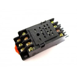 DIN RAIL RELAY SOCKET WITH 14 CONTACTS