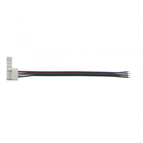CABLE WITH 1 PUSH CONNECTOR FOR FLEXIBLE LED STRIP - 10 mm RGB COLOUR