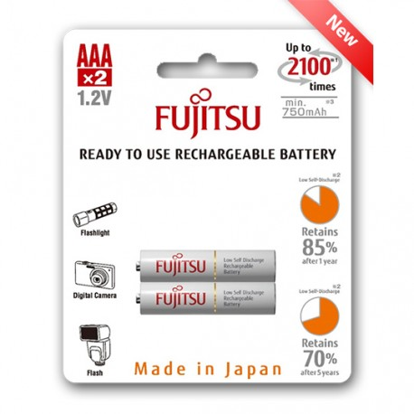 RECHARGABLE BATTERY READY2USE FUJITSU 2xAAA 750mAh
