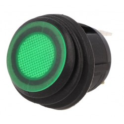 PUSH-BUTTON SWITCH ON-OFF 12V/20A WITH GREEN LIGHT