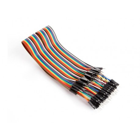 40 PINS 30 CM MALE TO MALE JUMPER WIRE (FLAT CABLE)
