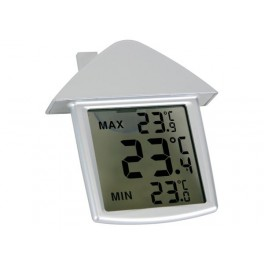 TRANSPARANT WINDOW THERMOMETER WITH MIN/MAX