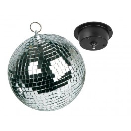 SET WITH MIRROR BALL (20cm). CHAIN AND MOTOR