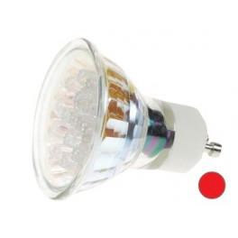RED GU10 LED LAMP - 240VAC