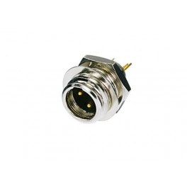 REAN - TINY 3-POLE MALE NICKEL HOUSING / GOLD PLATED MINI XLR