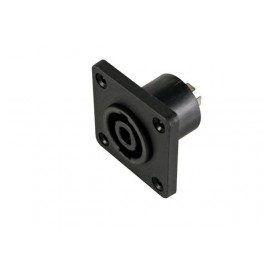 PROFESSIONAL FEMALE LOUDSPEAKER CONNECTOR - SQUARE - FOR CHASSIS
