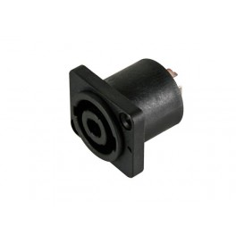 PROFESSIONAL FEMALE LOUDSPEAKER CONNECTOR - RECTANGULAR - FOR CHASSIS
