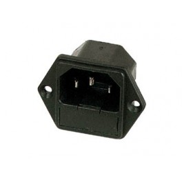 POWER SOCKET CHASSIS MALE WITH FUSE 6A