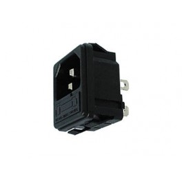 POWER SOCKET CHASSIS CLIP MALE WITH FUSE 6A