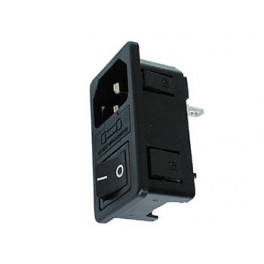 POWER AC SOCKET MALE WITH DPST SWITCH AND FUSE
