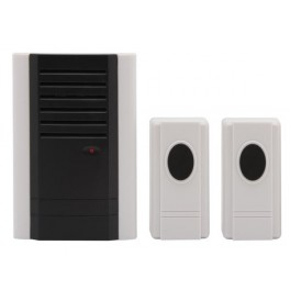 PORTABLE WIRELESS  DOOR CHIME WITH 2 DOORBELL BUTTONS