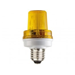 MINI STROBE LAMP YELLOW. 3.5W. E27 SOCKET