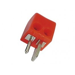 MALE 2P DIN PLUG 90deg . RED. SQUARE. SCREW CONNECTIONS