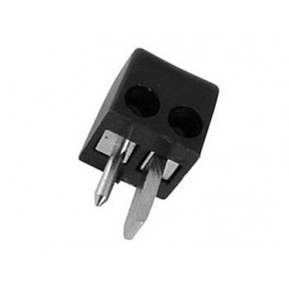 MALE 2P DIN PLUG 90deg . BLACK. SQUARE. SCREW CONNECTIONS