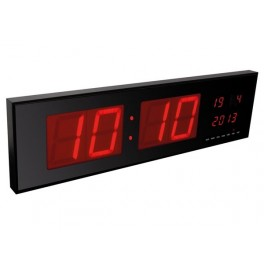 LED DISPLAY WALL CLOCK  830 x 230 x 40mm.  RED LED