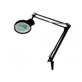 LAMP WITH MAGNIFYING GLASS - 5 dioptre- 22W BLACK